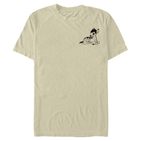 Vintage Line Bambi - Disney - Men's T-Shirt - Cream - Front