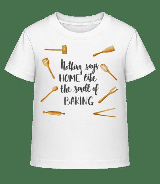 vôňa Pečenie - Detské Shirtinator tričko - Biela - Predné