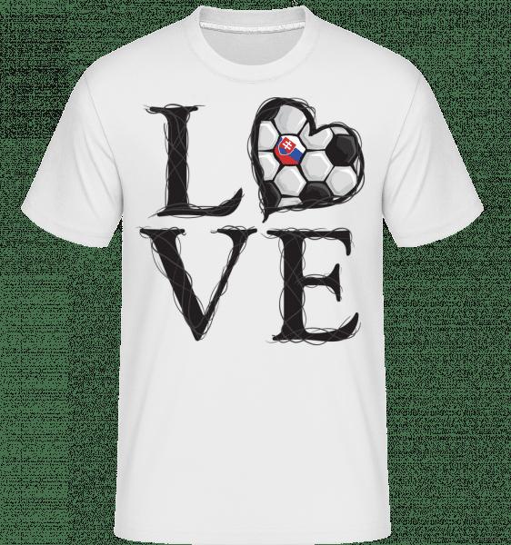 Football Love Slovakia -  Shirtinator tričko pre pánov - Biela - Predné