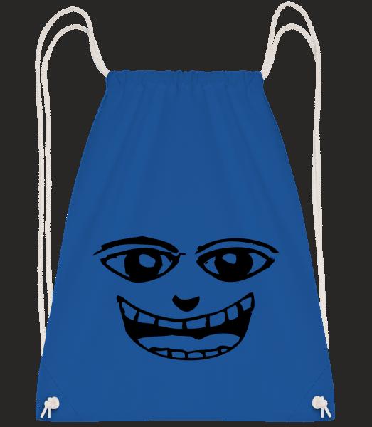 Funny Face Symbol Black - Drawstring Backpack - Royal blue - Vorn