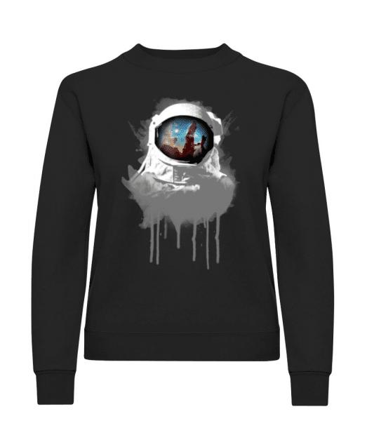 Astronaut - Women's Sweatshirt - Black - Front