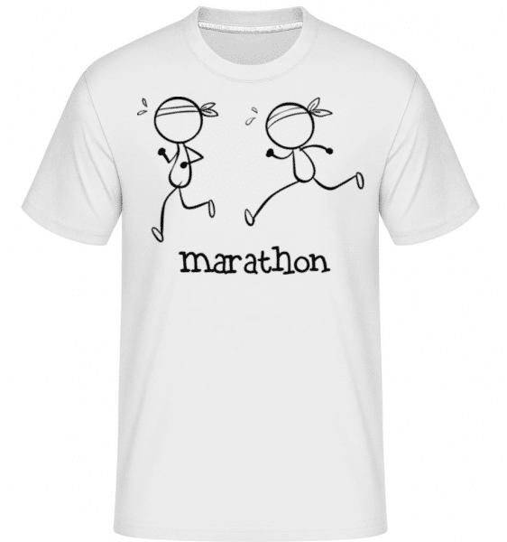 Marathon Icon -  Shirtinator Men's T-Shirt - White - Front