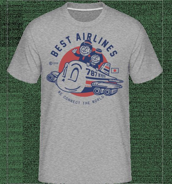 Best Airlines -  Shirtinator Men's T-Shirt - Heather grey - Front