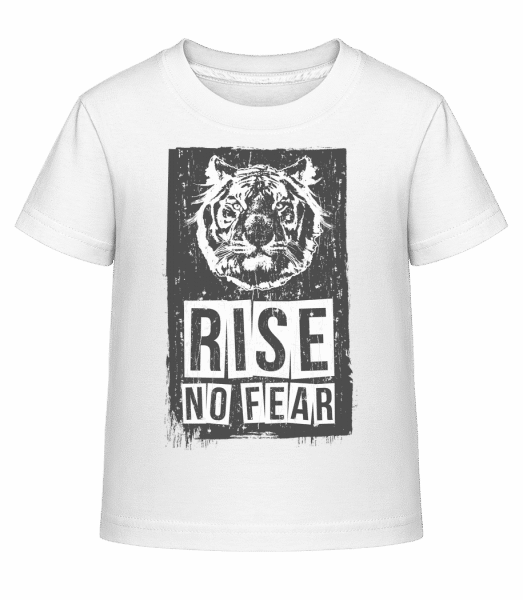 Rise No Fear Tiger - Kid's Shirtinator T-Shirt - White - Vorn