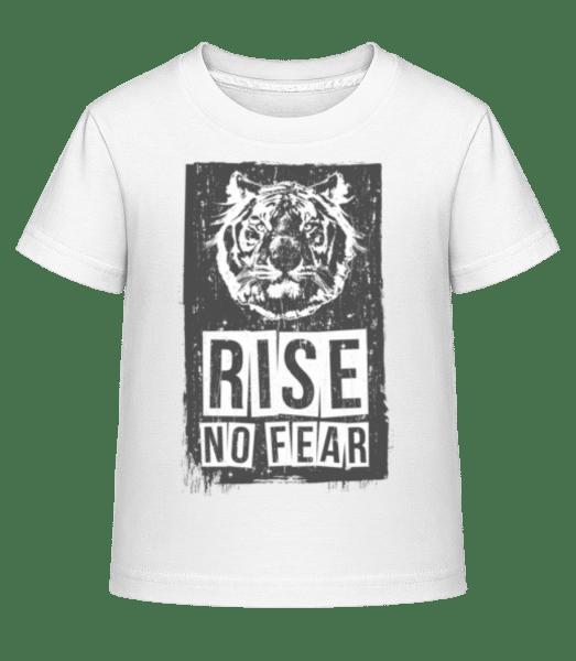 Rise No Fear Tiger - Kinder Shirtinator T-Shirt - Weiß - Vorn