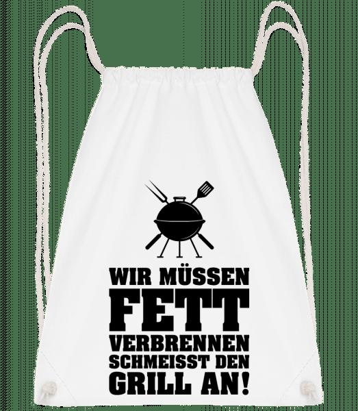 Fett Verbrennen - Turnbeutel - Weiß - Vorn