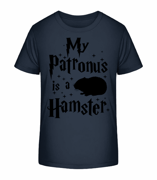 My Patronus Is A Hamster - Detské Premium Bio tričko - Namořnická modrá - Napřed