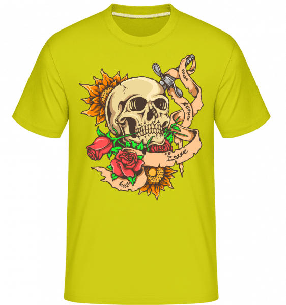 Love And Death -  Shirtinator Men's T-Shirt - Apple green - Vorn