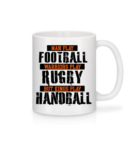 Kings Play Handball - Mug - White - Vorn