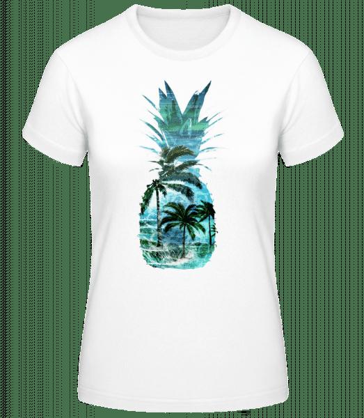 Pineapple Palms - Women's Basic T-Shirt - White - Vorn