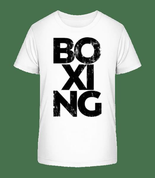 Boxing - Kid's Premium Bio T-Shirt - White - Vorn
