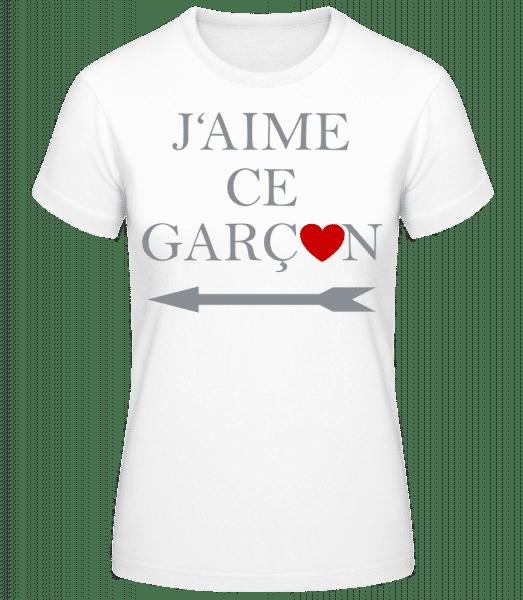 J'Aime Ce Garçon - T-shirt standard Femme - Blanc - Vorn