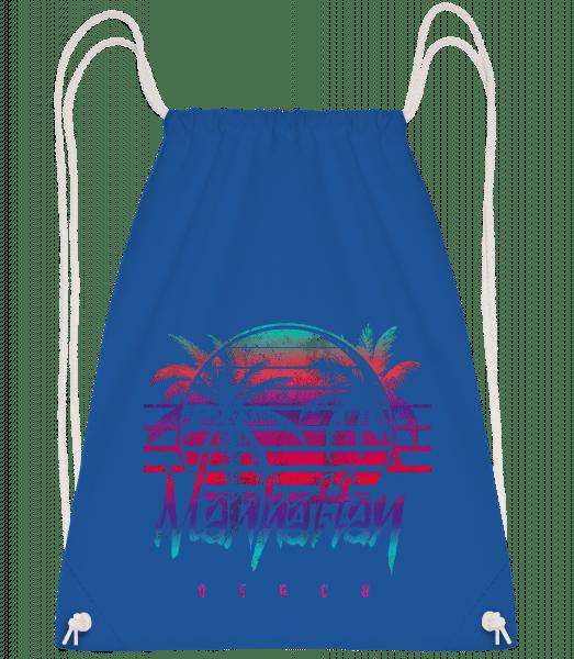 Manhattan Beach - Drawstring Backpack - Royal blue - Vorn