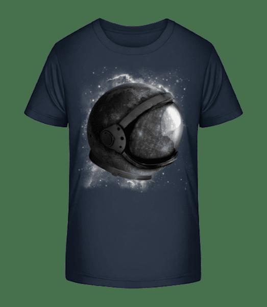 Astronautenhelm - Kinder Premium Bio T-Shirt - Marine - Vorn