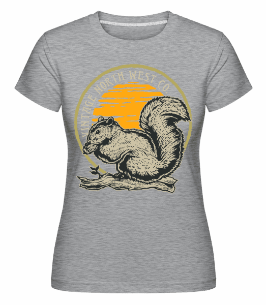 Squirel -  Shirtinator Women's T-Shirt - Heather grey - Vorn