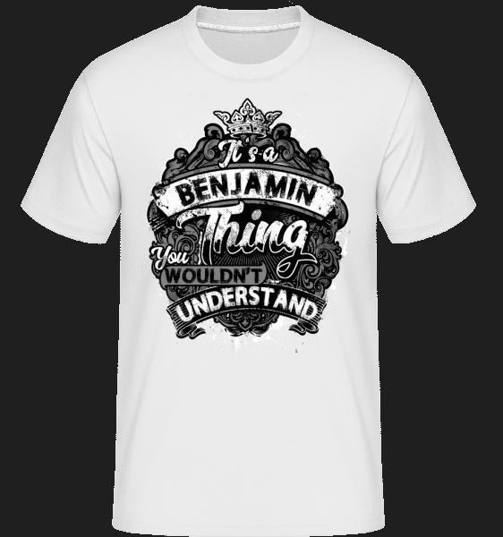 It's A Benjamin Thing -  Shirtinator Men's T-Shirt - White - Vorn