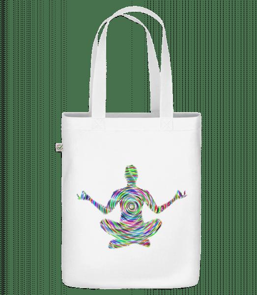 "Meditation Yoga - Organic ""Earth Positive"" tote bag - White - Vorn"