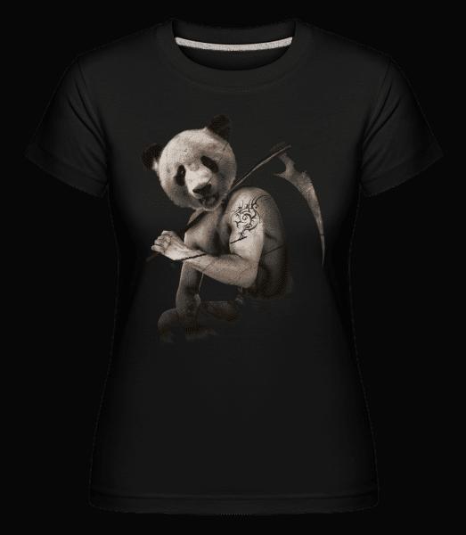 Scythe Panda -  Shirtinator tričko pro dámy - Černá - Napřed