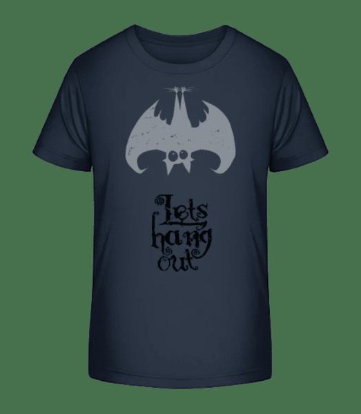 Let's Hang Out Bat - Kid's Premium Bio T-Shirt - Navy - Vorn