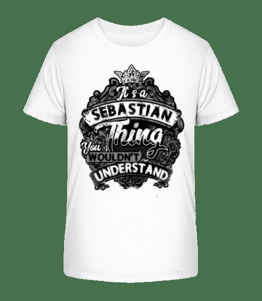 It's A Sebastian Thing - Kid's Premium Bio T-Shirt - White - Vorn