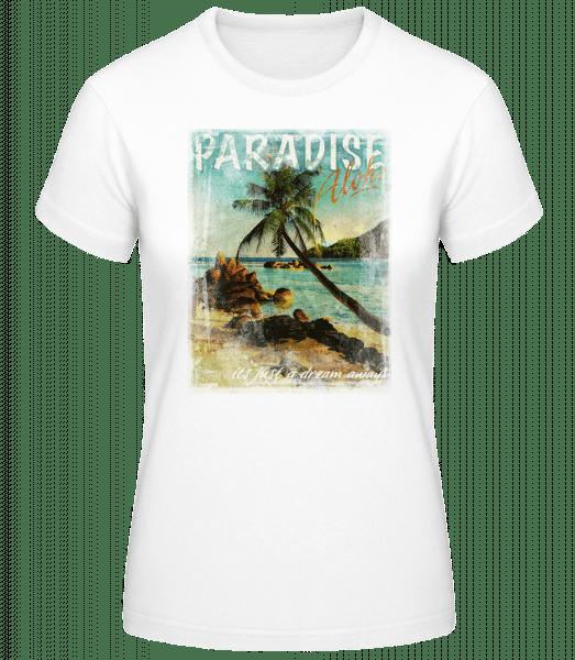 Paradise Aloha - Basic T-Shirt - White - Vorn