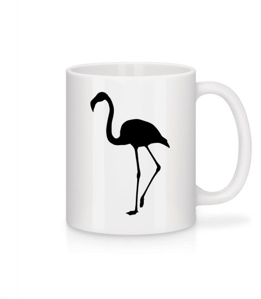 Flamingo Shadow - Mug - White - Vorn