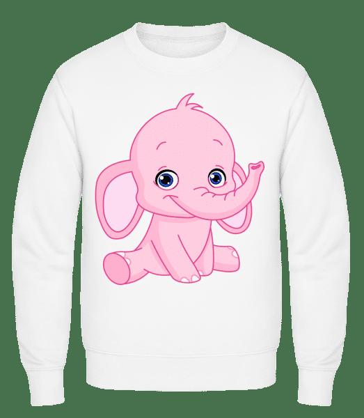 Elephant Comic - Classic Set-In Sweatshirt - White - Vorn
