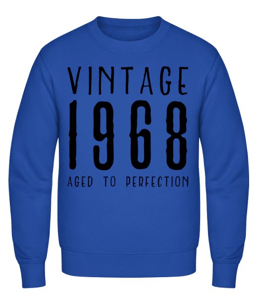 Vintage 1968 Aged To Perfection - Classic Set-In Sweatshirt - Royal Blue - Vorn