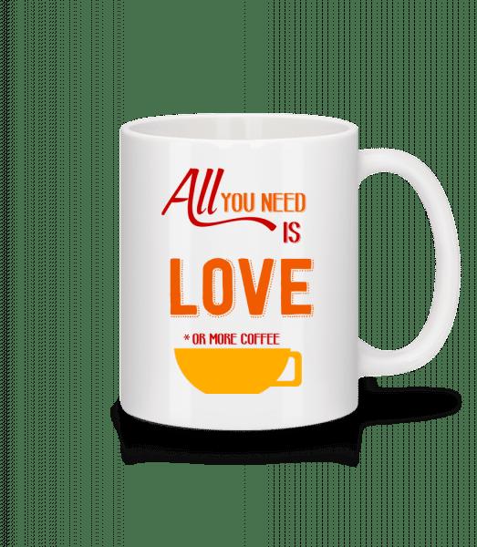 Láska nebo více Coffee - Keramický hrnek - Bílá - Napřed