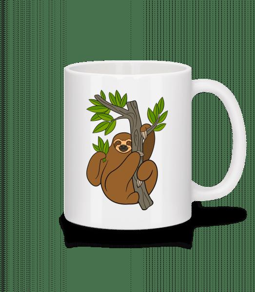 Faultier Am Baum - Tasse - Weiß - Vorn