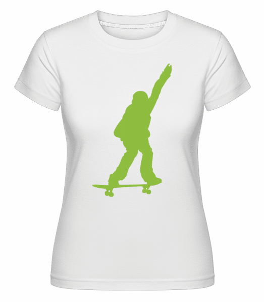 Skateboard Boy -  Shirtinator Women's T-Shirt - White - Front
