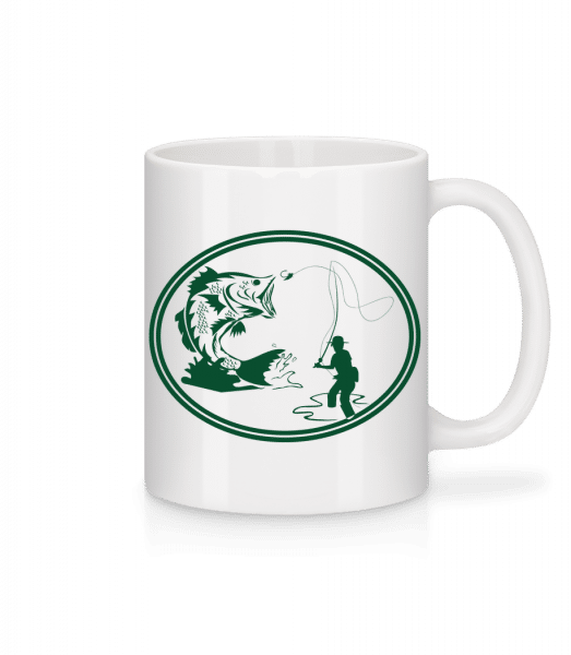 Fishing Icon Green - Mug - White - Front