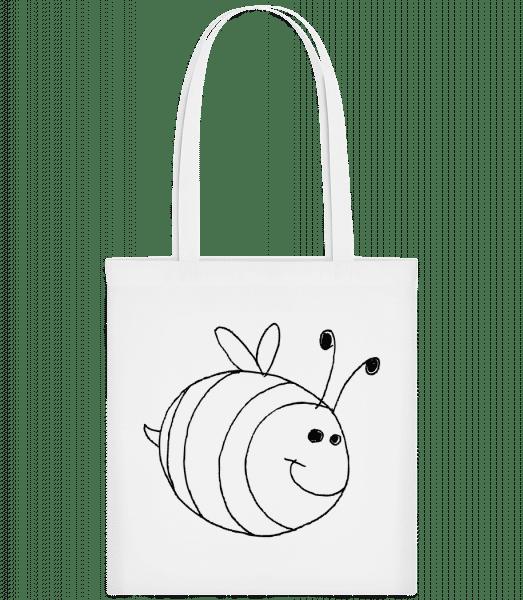 Kinder Comic - Biene - Stoffbeutel - Weiß - Vorn