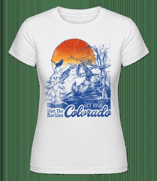 Get High Colarado -  Shirtinator Women's T-Shirt - White - Vorn