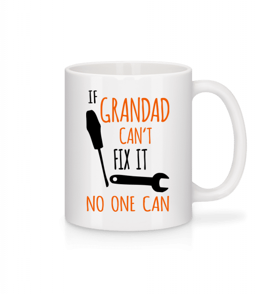 Pokud děda Cant Fix It - Keramický hrnek - Bílá - Napřed