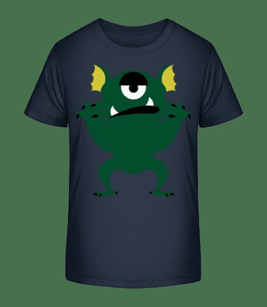 Bored Monster - Detské Premium Bio tričko - Namořnická modrá - Napřed