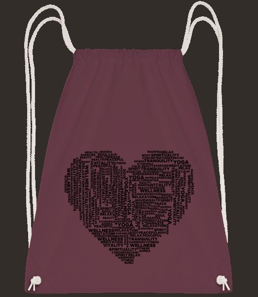 Yoga Heart - Gym bag - Bordeaux - Front