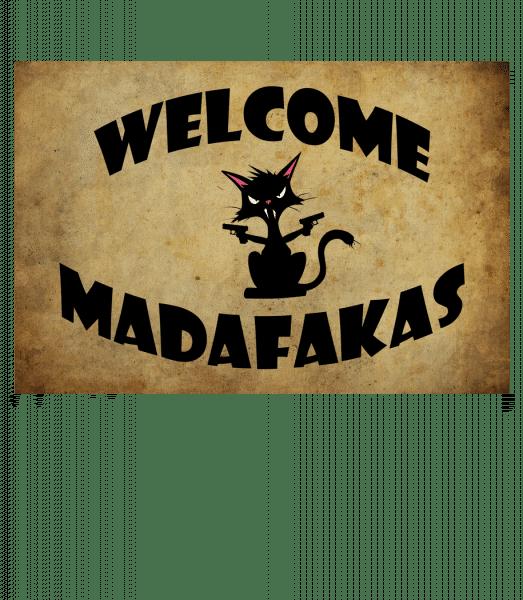 Welcome Madafakas - Doormat - White - Front