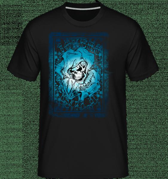 Squelette Carte À Jouer Joker -  T-Shirt Shirtinator homme - Noir - Vorn