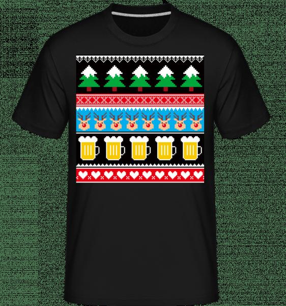 Ugly Christmas Symbols - Shirtinator Männer T-Shirt - Schwarz - Vorn