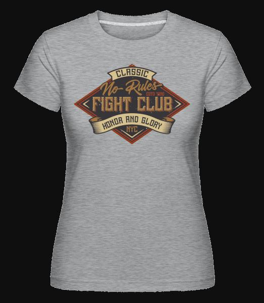 No Rules Fightclub -  Shirtinator Women's T-Shirt - Heather grey - Vorn