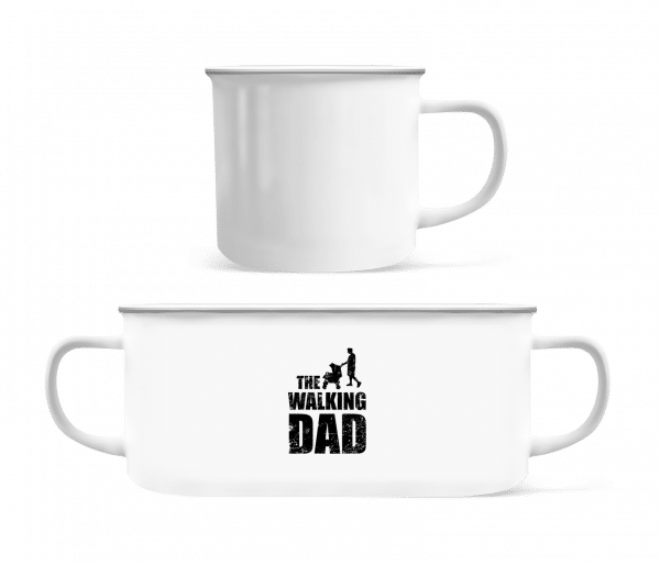 The Walking Dad - Enamel-cup - White - Vorn