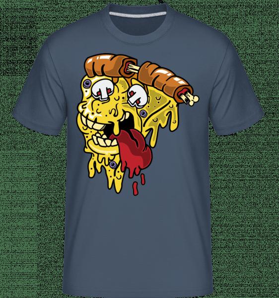 Pizza Monster -  Shirtinator Men's T-Shirt - Denim - Vorn