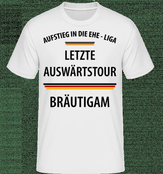Letzte Tour Bräutigam - Shirtinator Männer T-Shirt - Weiß - Vorn