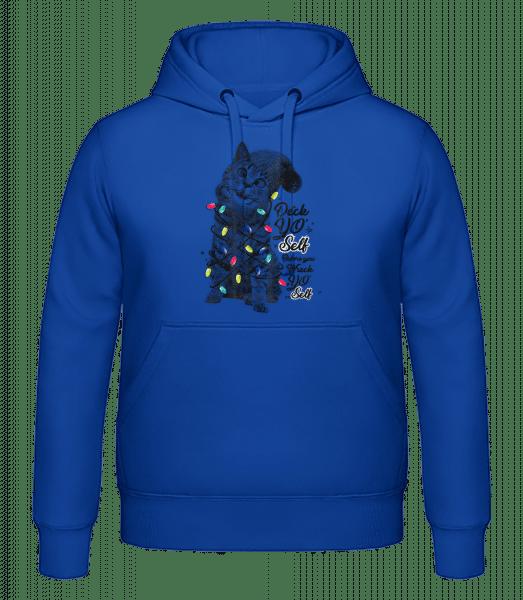 Chat De Noel - Hoodie homme - Bleu royal - Vorn