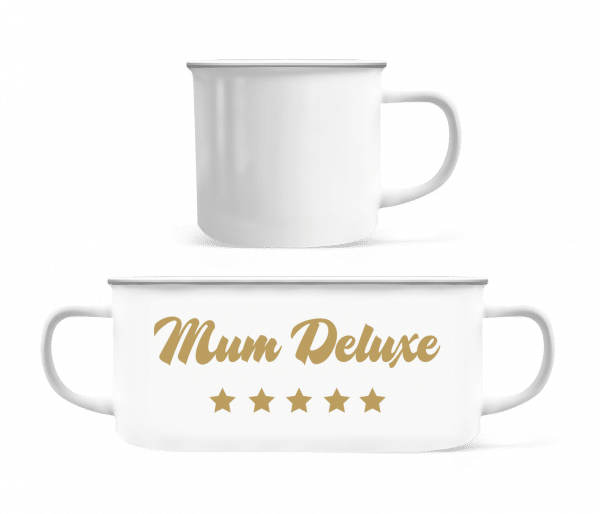Mum Deluxe - Beige - Enamel-cup - White - Vorn