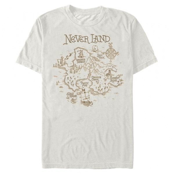 Neverland Map - Disney Peter Pan - Men's T-Shirt - Cream - Front