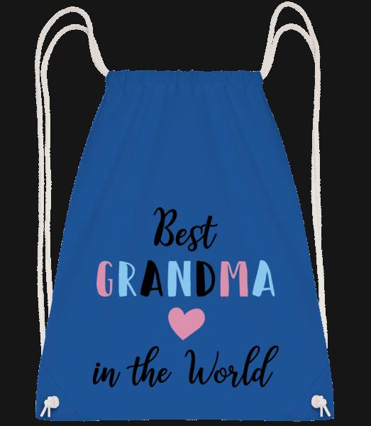 Best Grandma In The World - Drawstring Backpack - Royal blue - Vorn