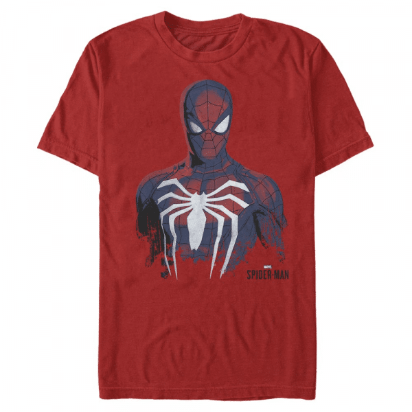 Painted Spidy Spider-Man - Marvel - Men's T-Shirt - Red - Front
