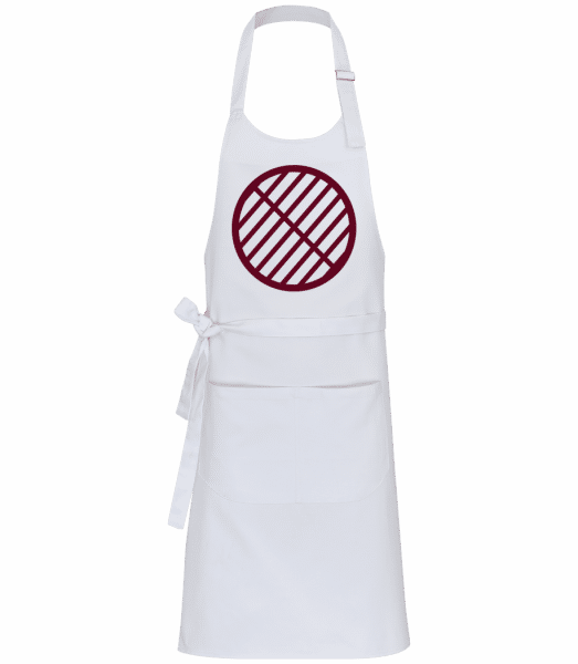 BBQ Grill Sign - Professional Apron - White - Vorn
